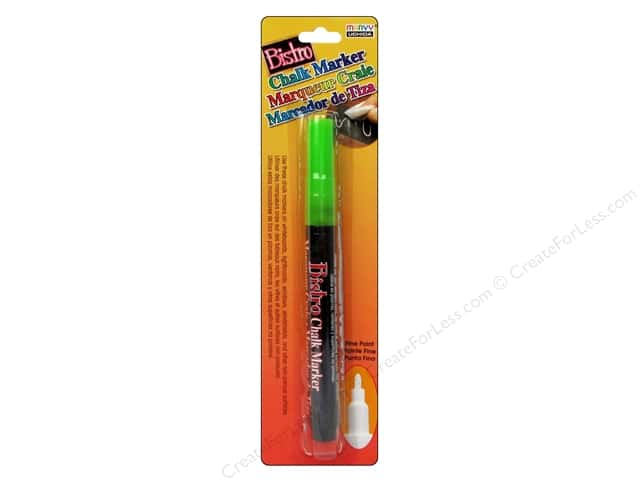 Uchida Bistro Chalk Marker Fine Point Fluorescent Green