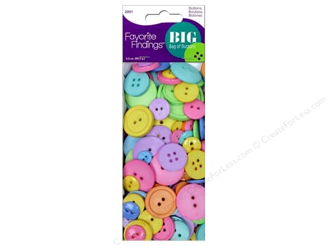 Blumenthal FF Big Bag Of Buttons 3.5 oz Happy