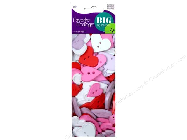 Blumenthal Buttons Big Bag Hearts 3 1/2 oz.