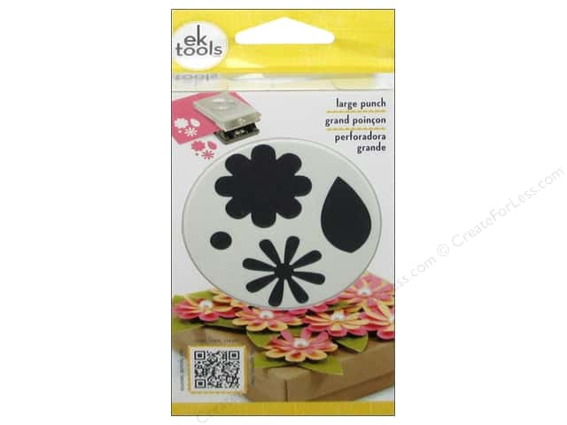 EK Success Large Punch Flowers & Leaves 2 1/4 in.