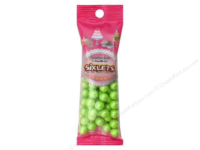 SweetWorks Celebration Sixlets 1.75 oz. Shimmer Lime