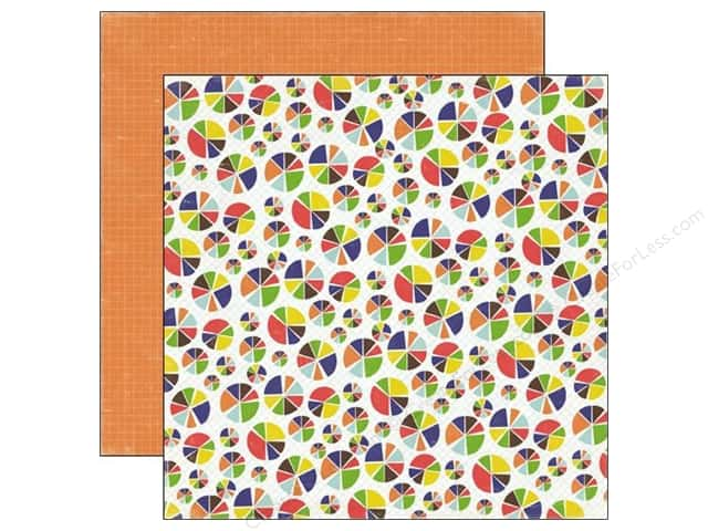 Echo Park 12 x 12 in. Paper Paper & Glue Collection Pie Charts (25 sheets)