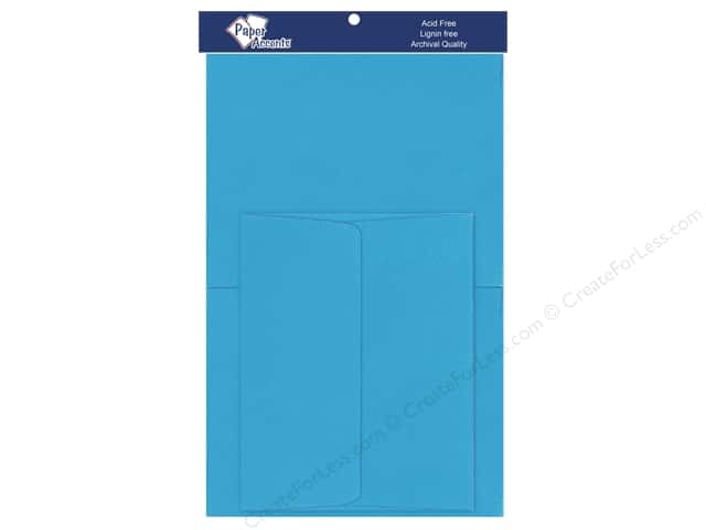 4 1/4 x 5 1/2 in. Blank Card & Envelopes by Paper Accents 10 pc. Blue