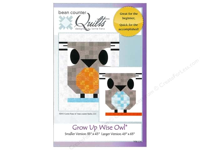 Bean Counter Quilts Grow Up Wise Owl Pattern