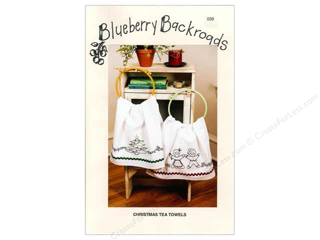 Blueberry Backroads Christmas Tea Towels Pattern