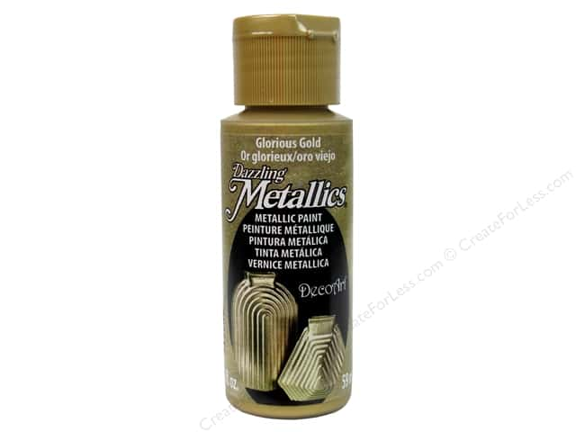 DecoArt Dazzling Metallics Acrylic Paint 2 oz. Glorious Gold