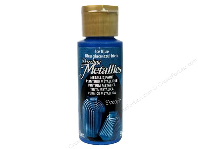 DecoArt Dazzling Metallics Acrylic Paint 2 oz. Ice Blue