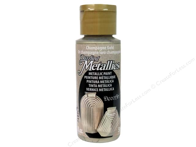 DecoArt Dazzling Metallics Paint 2 oz Champagne Gold