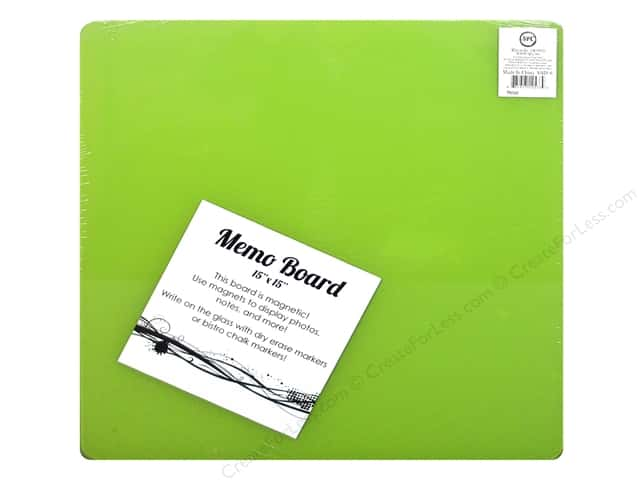 Sierra Pacific Office Magnetic Glass Board Square 15 in. x 15 in. Lime