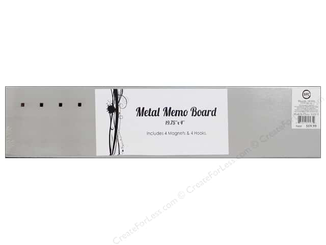 Sierra Pacific Office Magnetic Board Stainless Steel With Magnets 19 5/8  in. x 4  in.