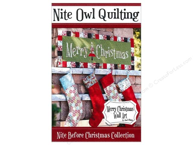Nite Owl Quilting Merry Christmas Wall Art Pattern