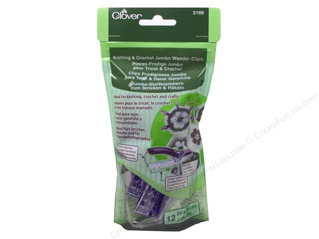 Clover Knitting & Crochet Jumbo Wonder Clips 12 pc. Purple