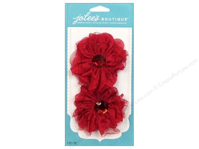 EK Jolee's Boutique Le Fleur Large Eyelet Flower Red