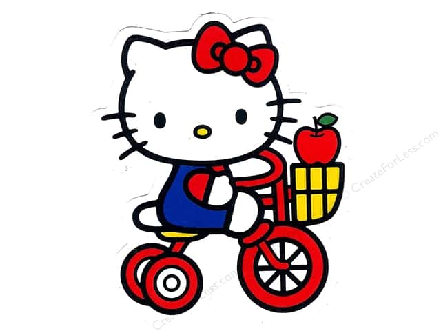 C&D Visionary Sticker Hello Kitty Tricycle