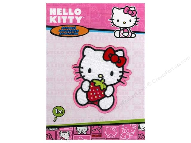 C&D Visionary Applique Hello Kitty Strawberry