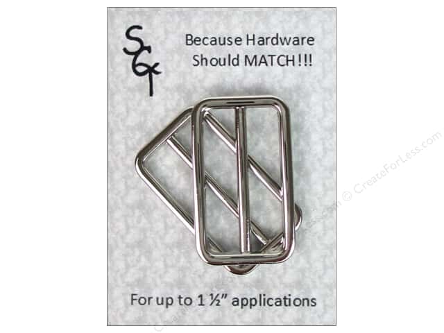 """Sisters Common Thread Hardware Square Buckle 1.5"""" Nickel 2pc"""