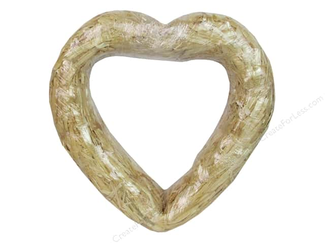 FloraCraft Straw Heart 12 in. Clear Wrap
