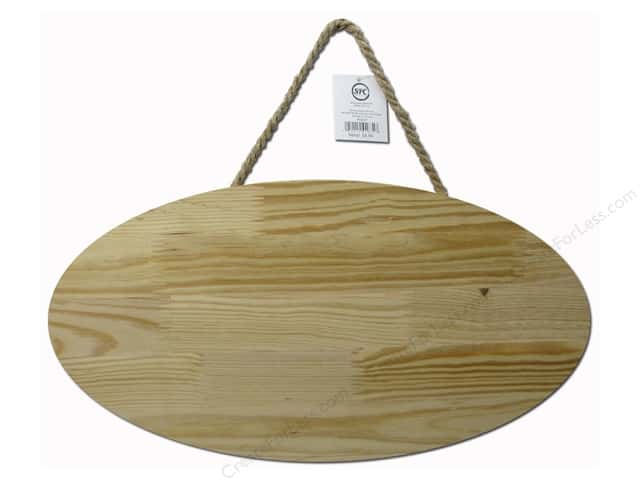 Sierra Pacific Wood Plaque With Hanger Oval 18 1/8 in. x 9 5/8  in. Unfinished