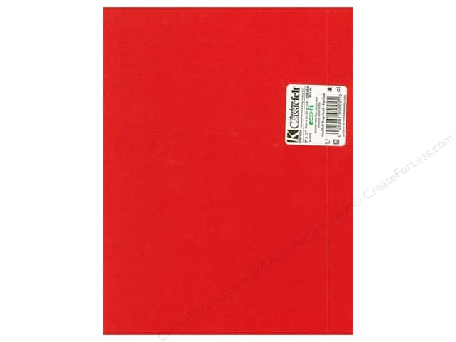 Kunin Felt 9 x 12 in. Coral Red (24 sheets)