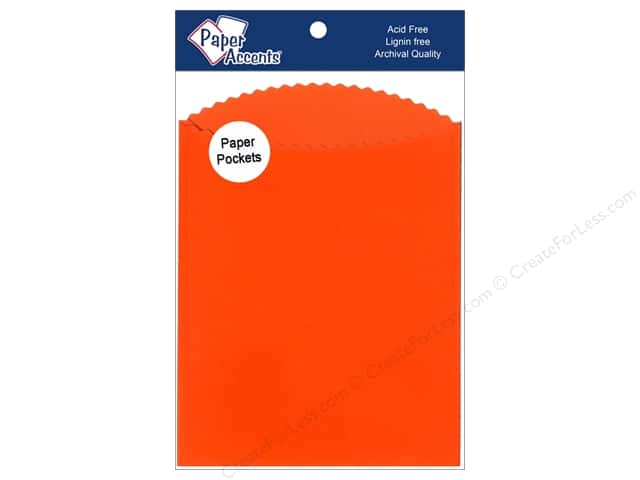 Paper Accents Pocket 4 1/4 x 5  1/2 in. Orange 10 pc.