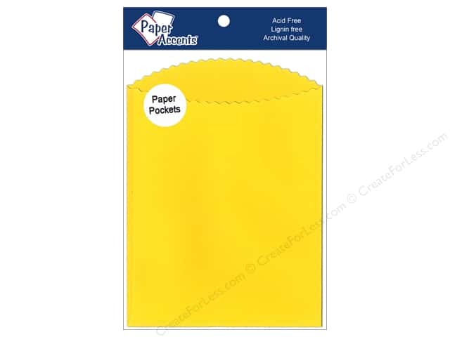 Paper Accents Pocket 4 1/4 x 5  1/2 in. Canary Yellow 10 pc.