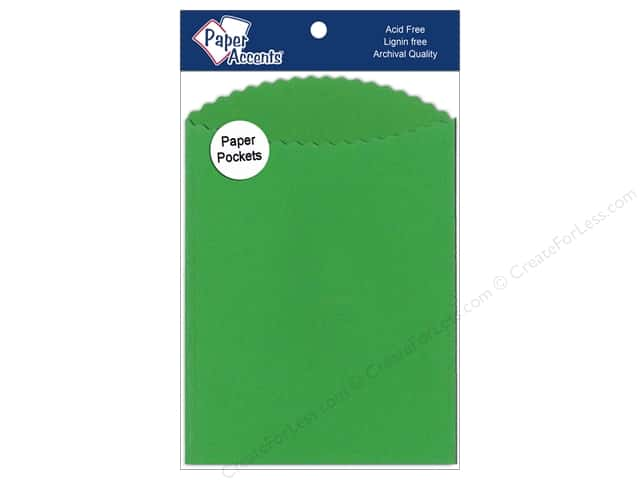 Paper Accents Pocket 4 1/4 x 5  1/2 in. Green Grass 10 pc.