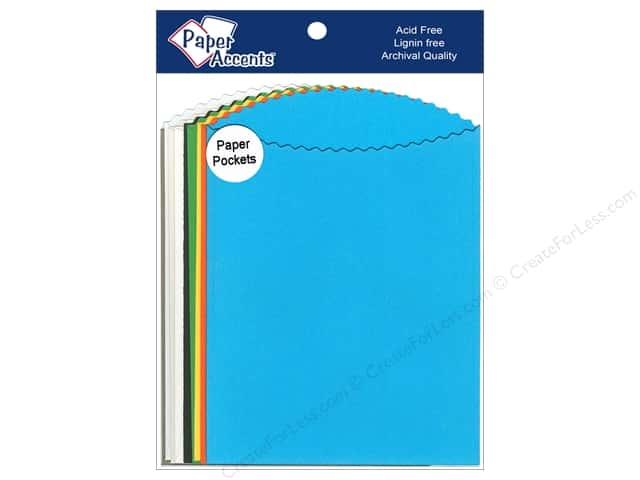 Paper Accents Pocket 4 1/4 x 5  1/2 in. Assorted 10 pc.