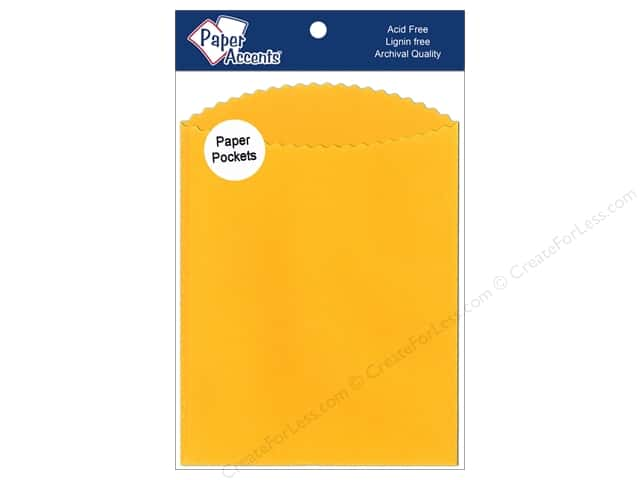 Paper Accents Pocket 5 x 7 in. Canary Yellow 8 pc.