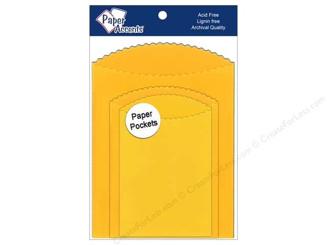 Paper Accents Pocket Assorted Sizes Canary Yellow 8 pc.