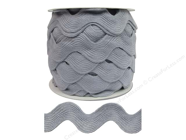 Jumbo Ric Rac by Cheep Trims 1 13/32 in. Light Grey (24 yards)