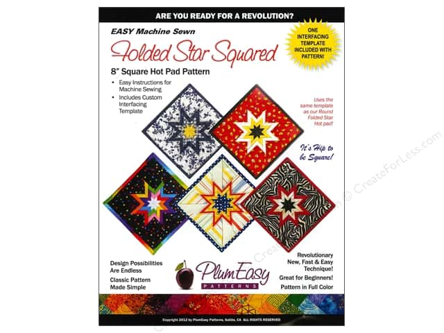 PlumEasy Folded Star Square Hot Pad Pattern