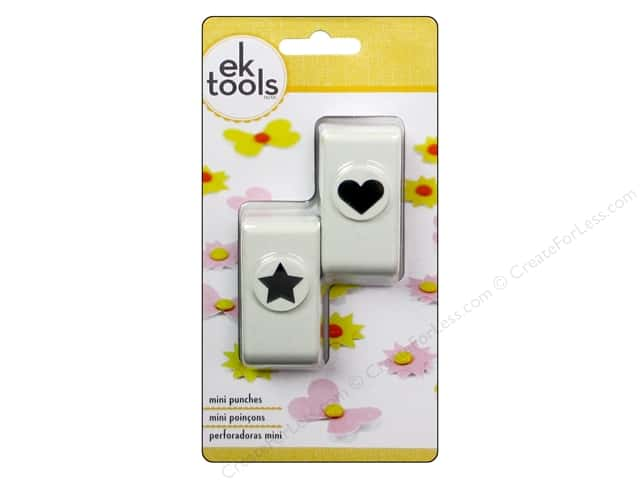EK Paper Shapers Punch Heart And Star 2 pc.