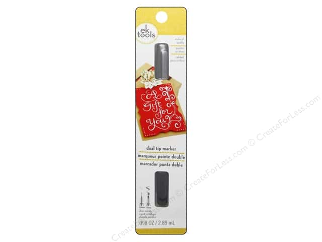 Zig Writer Dual Tip Marker Silver
