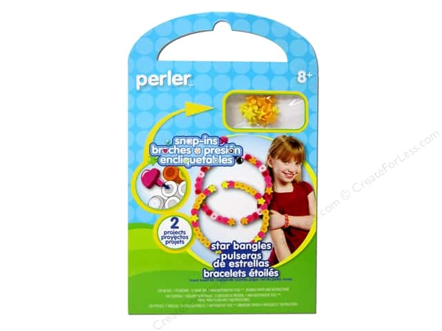 Perler Fused Bead Kit Star Bangles 100pc