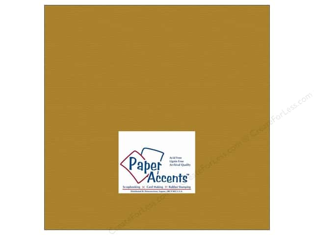 Cardstock 12 x 12 in. Brushed Gold by Paper Accents (25 sheets)