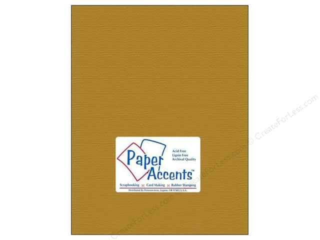 Cardstock 8 1/2 x 11 in. Brushed Gold by Paper Accents (25 sheets)
