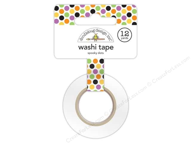Doodlebug Washi Tape 5/8 in. x 12 yd. Spooky Dots