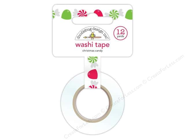 Doodlebug Washi Tape 5/8 in. x 12 yd. Christmas Candy