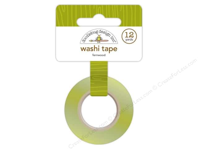 Doodlebug Washi Tape 5/8 in. x 12 yd. Fernwood