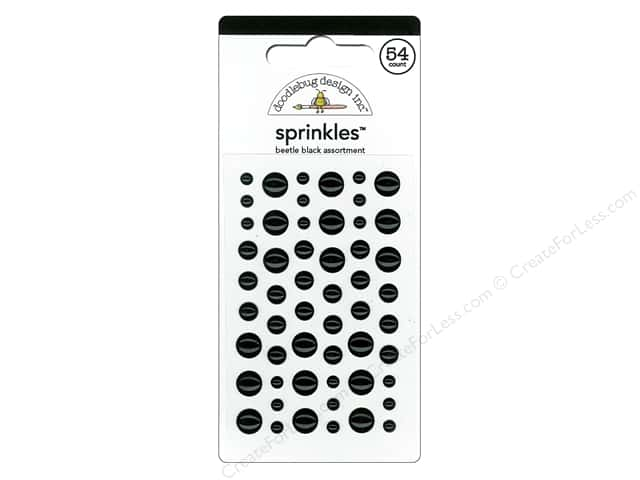 Doodlebug Sprinkles Stickers Beetle Black