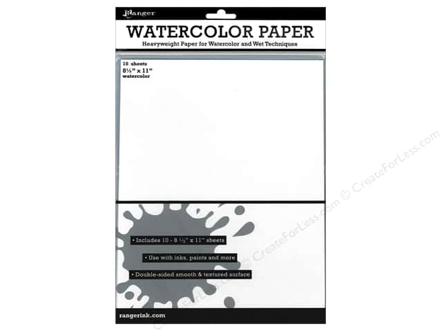 Ranger Essentials Surfaces Watercolor Paper 10pc