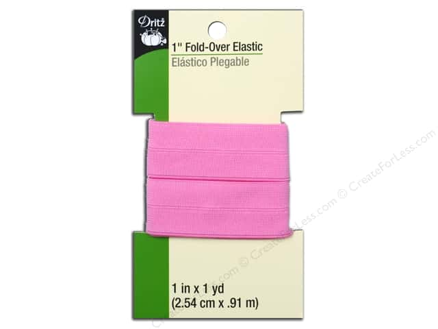 Fold-Over Elastic by Dritz 1 in. x 1 yd. Pink