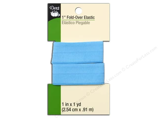 Fold-Over Elastic by Dritz 1 in. x 1 yd. Light Blue