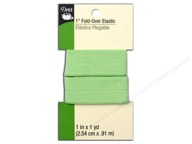 Fold-Over Elastic by Dritz 1 in. x 1 yd. Light Green
