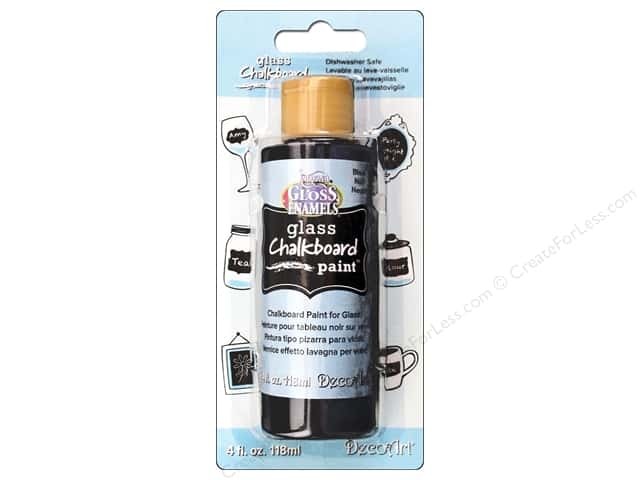 DecoArt Americana Glass Chalkboard Paint 4 oz. Black