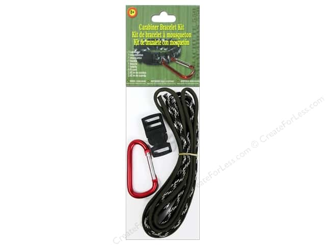 Pepperell Parachute Cord Accessories Carabiner Bracelet Kit