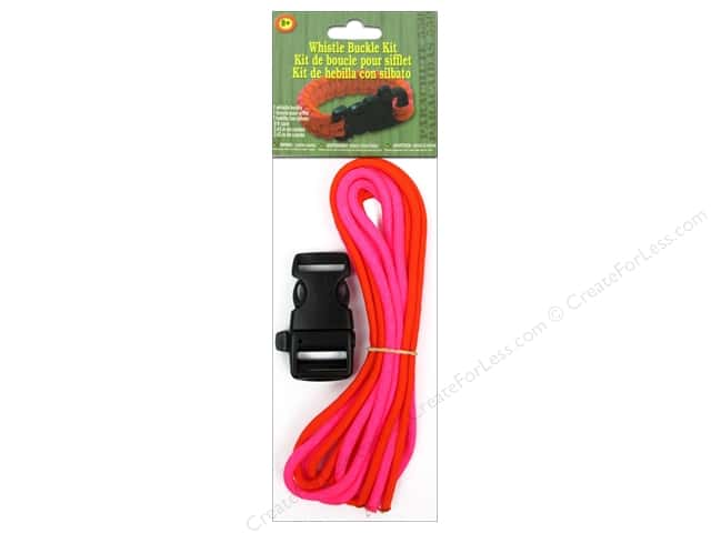 Pepperell Parachute Cord Whistle Buckle Kit Pink/Orange