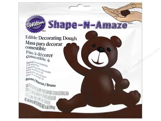 Wilton Edible Decorations Shape N Amaze Decorating Dough 6oz Brown