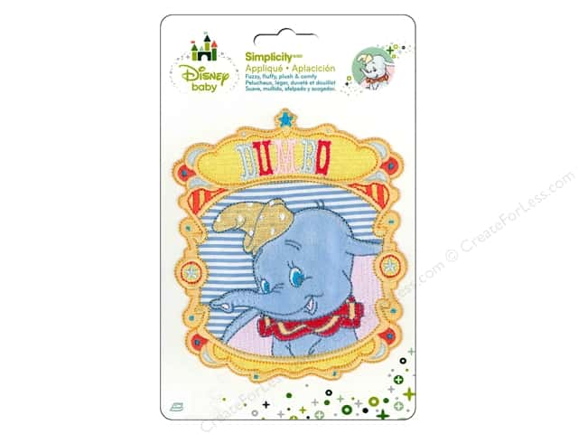 Simplicity Disney Baby Iron On Dumbo Portrait