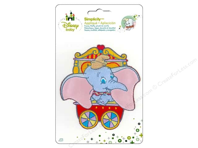 Simplicity Disney Baby Iron On Dumbo In Circus Cart
